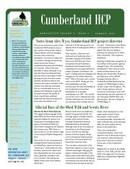 newsletter summer issue final 8-25-09 - Cumberland HCP