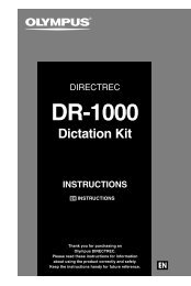 DR-1000 Dictation Kit Instructions - Olympus America