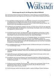 Benutzungsordnung Bürgerhaus - Gemeinde Wöllstadt