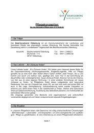 Pflegekonzeption - Bezirksverband Oldenburg