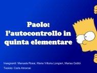 Paolo: un bambino con problemi di comportamento - USP di Piacenza