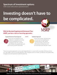 Spectrum of Investment Options - Maryland Teachers & State ...