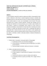 Métodos de Análise e Interpretação Literária ... - UNESP-Assis
