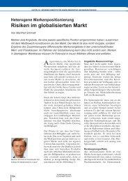 Beitrag Manfred Schmidt - Institut für Markentechnik SA