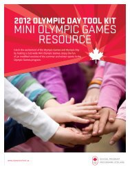 MINI OLYMPIC GAMES RESOURCE - Canadian Olympic School ...