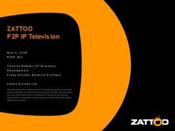 ZATTOO P2P IP Television