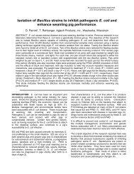 Isolation of Bacillus strains to inhibit pathogenic E. coli and ... - Agtech