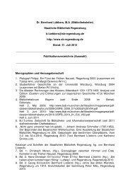 Publikationsliste - Staatliche Bibliothek Regensburg