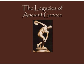 The Legacy of Greece and Rome