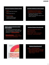 Lecture PowerPoint Slides - Earth's Interior