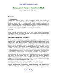 Tanya Jawab Seputar Jama'ah Tabligh - alQiyamah - Moslem Weblog