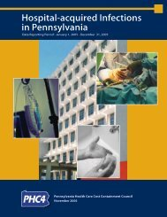 Hospital-acquired Infections in Pennsylvania - Pennsylvania Health ...