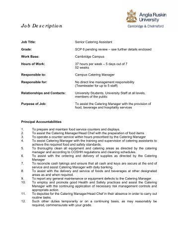 format for job description - Stockroom Job Description