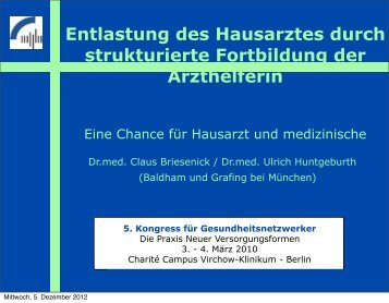 Hausärztliche Präventionsassistentin - Praxis Dr.med. Briesenick