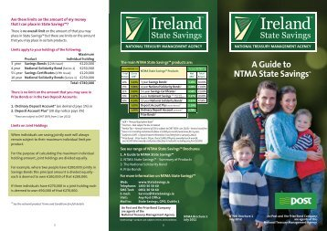 A Guide to NTMA State Savings - Terms and Conditions