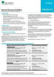 Factsheet Sammel Express Zertifikat - BNP Paribas