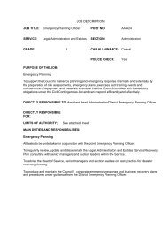 Emergency Planning Officer Job Description , item 48. PDF 11 KB