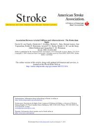 Association Between Arterial Stiffness and Atherosclerosis The ...