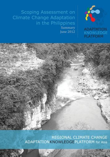 Scoping Assessment on Climate Change Adaptation in the Philippines