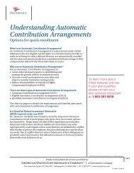 Understanding Automatic Contribution Arrangements - OneAmerica