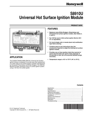 68 0161 s8910u universal hot surface ignition module honeywell?quality\=85 honeywell s8910u wiring diagram honeywell mercury thermostat  at panicattacktreatment.co