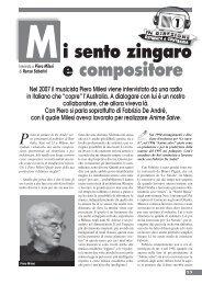 Mi sento zingaro e compositore - Omaggio a Fabrizio De André