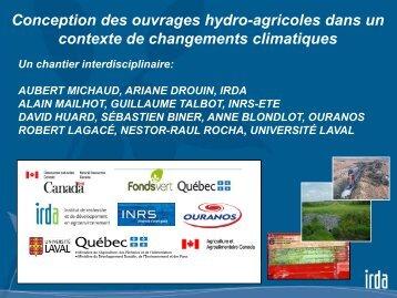 Conception des ouvrages hydro-agricoles dans un ... - Ouranos
