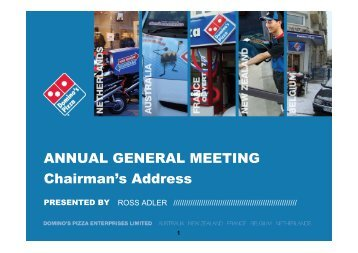 2010 Annual General Meeting Presentation - Domino's Pizza