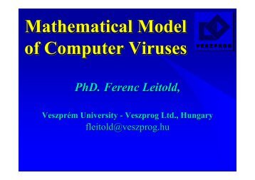 Mathematical model of computer viruses