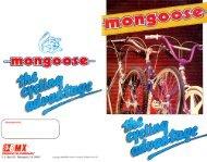 86 mongoose catalog - Vintage Mongoose