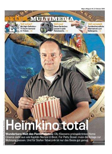 Bericht Migros Magazin - Nautilus Home Cinema and Collection