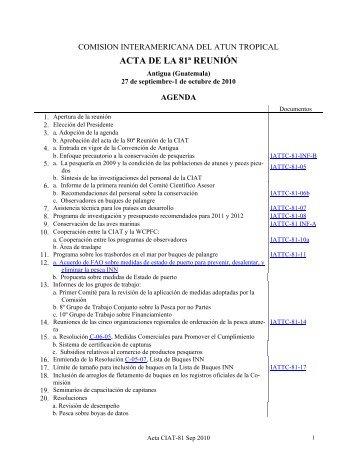 81ª - Comisión Interamericana del Atún Tropical