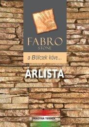 2010-es FABRO árlista - FabroStone