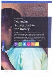 finden Sie den Bericht über die sechs Schwerpunkte von Rotary
