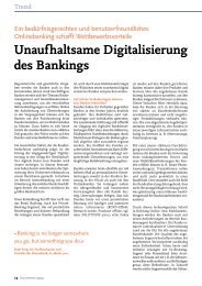 Unaufhaltsame Digitalisierung des Bankings - solutionproviders