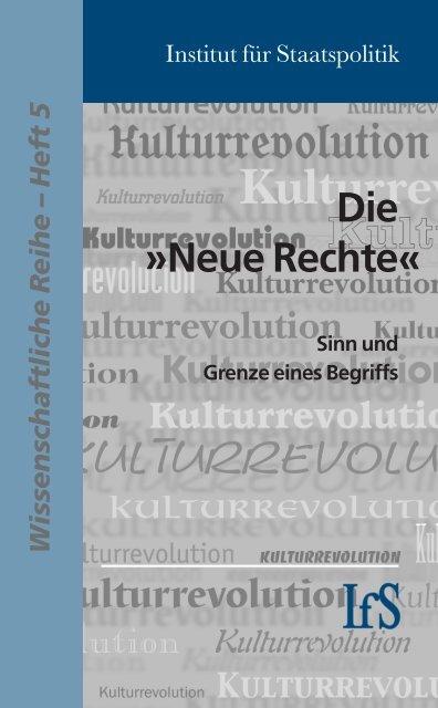 Die »Neue Rechte Hintergründe und ... - Staatspolitik