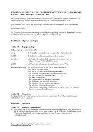 examenreglement bacheloropleiding technische natuurkunde en ...