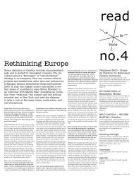 Rethinking Europe - Projekt Relations