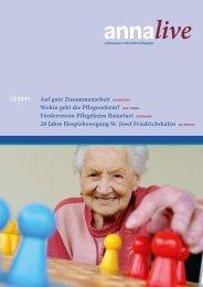 Wohin geht die Pflegereform? - St. Anna-Hilfe gGmbH