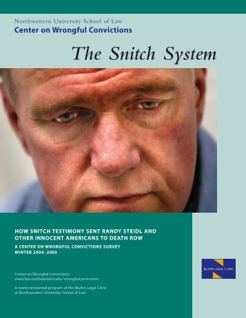 The Snitch System - The Innocence Project