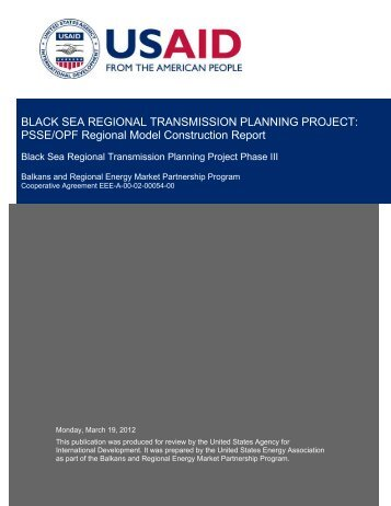 PSSE/OPF Regional Model Construction Report - United States ...