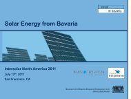 Solar Energy from Bavaria - the Bavarian US Offices for Economic ...