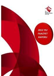 2012 YILI FAALİYET RAPORU - Aile ve Sosyal Politikalar Bakanlığı