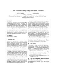 Colour Stereo Matching Using Correlation Measures - SEE