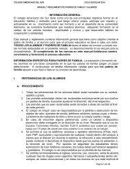 Manual de Padres y Estudiantes - Colegio Americano del Sur