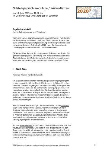 Ortsteilgespräch Werl-Aspe / Wülfer-Bexten - Bad Salzuflen