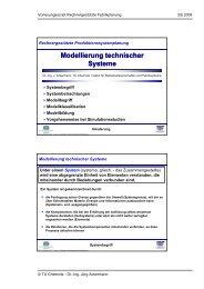 Modellierung technischer Systeme Modellierung technischer Systeme