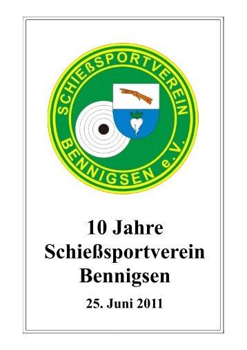 Vereinschronik - Schießsportverein Bennigsen e.V.
