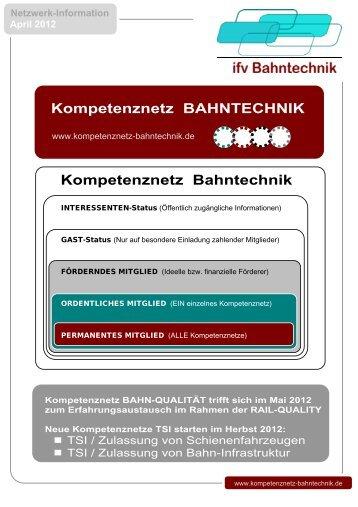 Kompetenznetz Bahntechnik Kompetenznetz ... - IFV Bahntechnik