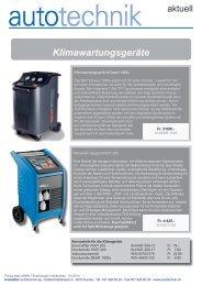 Klimawartungsgeräte - Hostettler Autotechnik AG